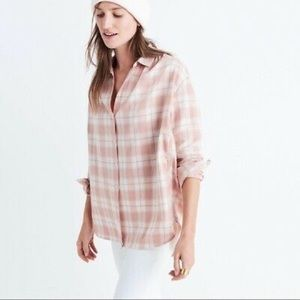 MADEWELL • Oversized Central Long Danville Plaid